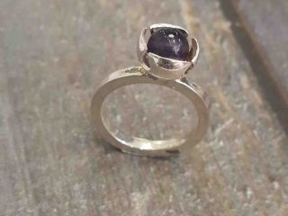 Flower Amethyst Ring REM Jewellery Fremantle Western Australia