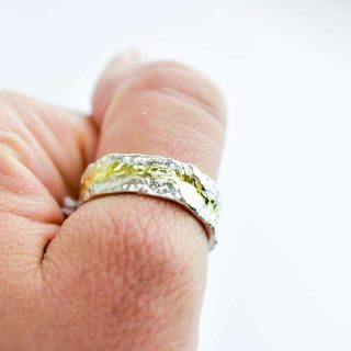 Bark textured ring