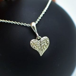 Leaf Love Heart Pendant