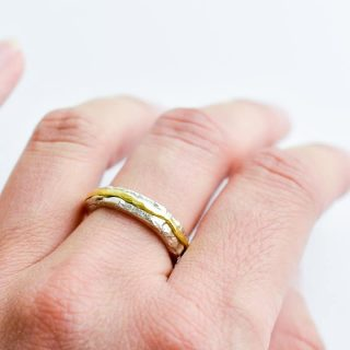 Hammer textured ring by Boyd Parry.