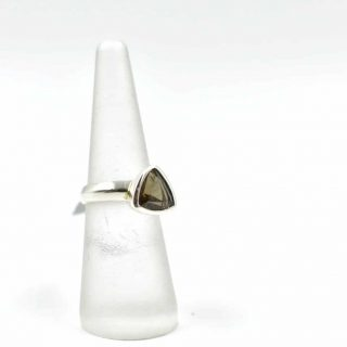 Smokey Quartz Trillion Ring