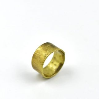 Brass Hammered Ring