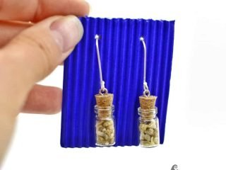 Sea sand bottles earrings