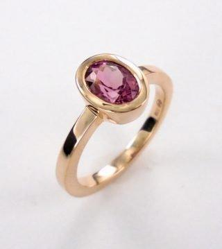 Rosegold Tourmaline Ring