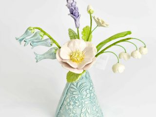 English Garden Flowers in Small Vase