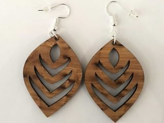 Leaf Earring LAsercut