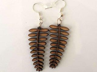 Leaf Lasercut Wood Earrings