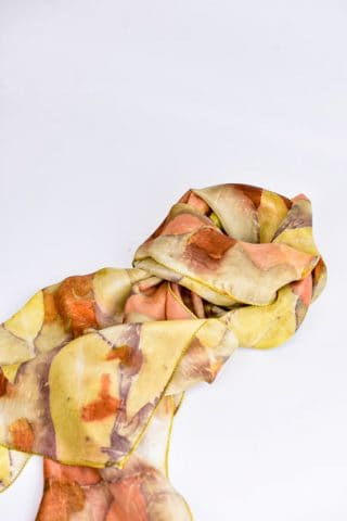 Eucalyptus Leaves Silk Scarf