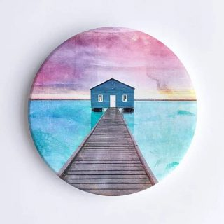 Crawley Boathouse, Perth Ceramic Coaster