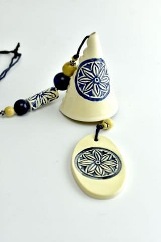 Blue and White Bells Wind Chime