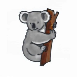 Leadlight Sticker 'Koala'