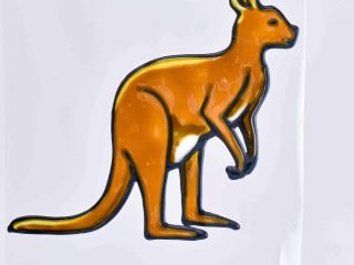 Leadlight Sticker 'Kangaroo'