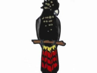 Leadlight Sticker 'Black Cockatoo'