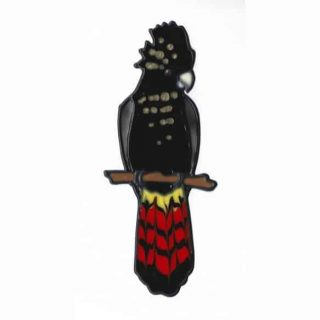 Leadlight Sticker 'Black Cockatoo'