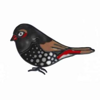 Leadlight Sticker 'Firetail Finch'