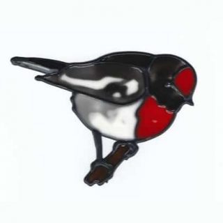 Leadlight Sticker 'Red Robin'