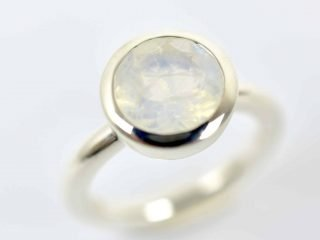 Rainbow Moonstone Cup Ring