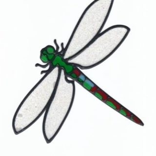 Leadlight Sticker 'Dragonfly''