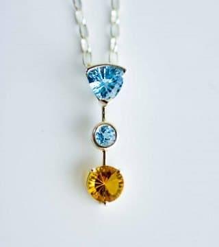 Triple stone pendant