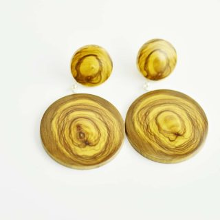 Olive Timber Earrings