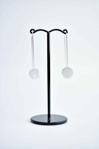 Disc on long hook earring