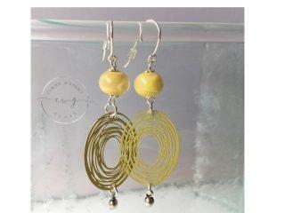 Argentium Earrings Yellow