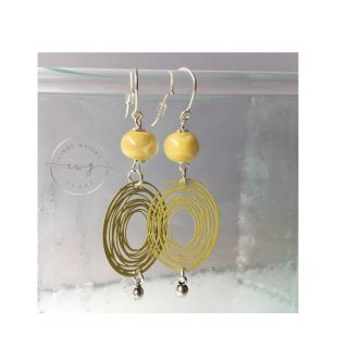 Argentium Earrings Yellow
