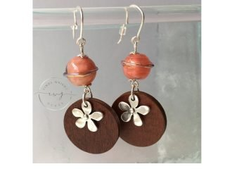 Argentium Earrings Pink