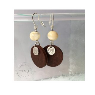 Argentium Earrings Cream