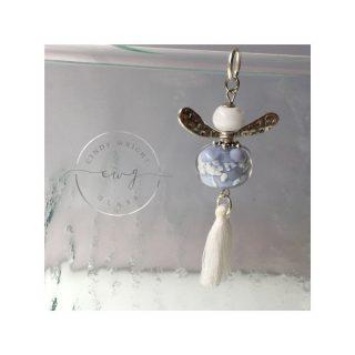 Lampwork Glass Bead Angel Blue
