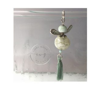 Lampwork Glass Bead Angel Pastel Green