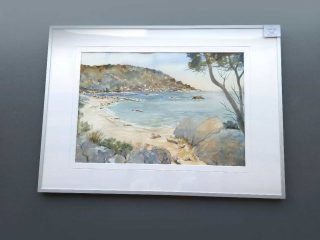 Watercolour painting 'Eagle Bay'