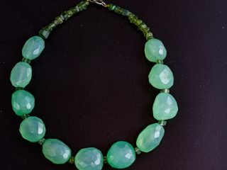Pale Green Chalcedony Necklace