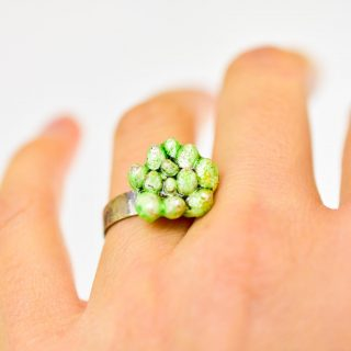Fine and Sterling Silver Succulent Ring