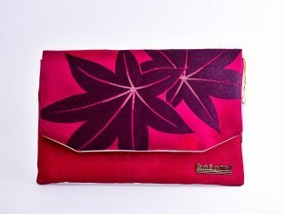 Magenta Maple Leaf Clutch