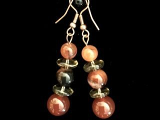 Carnelian Beads Earrings