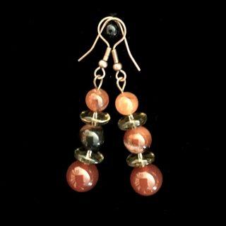 Carnelian Beads Earrings