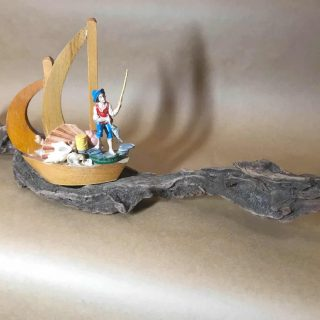 Assemblage Sculpture 'At Sea'
