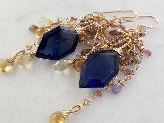 Sapphire Blue Quartz Earrings