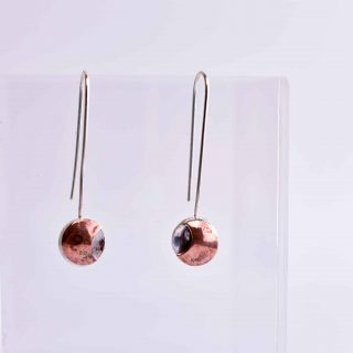 Small Bronze Eclipse Earrings