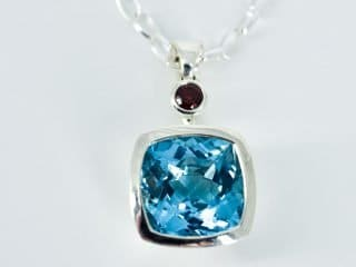 Topaz and Garnet pendant