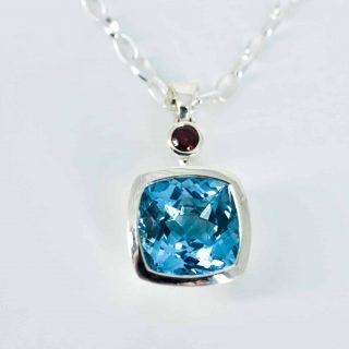 Topaz and Garnet pendant