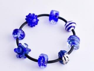 Bracelet 'Cobalt Beads'
