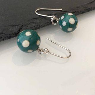 Argentium Earrings Blue