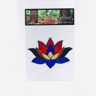 Lotus Flower Leadlight Sticker