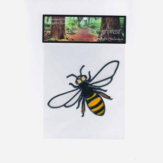 Bee Leadlight Sticker