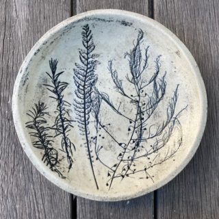 Black and White Plant Imprinting Plate