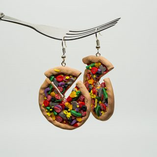 Pizza Polymer Clay Earrings