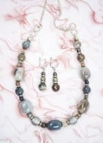 Agate Necklace and Earrings