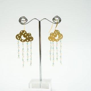 Blue Apatite Cloud Earrings
